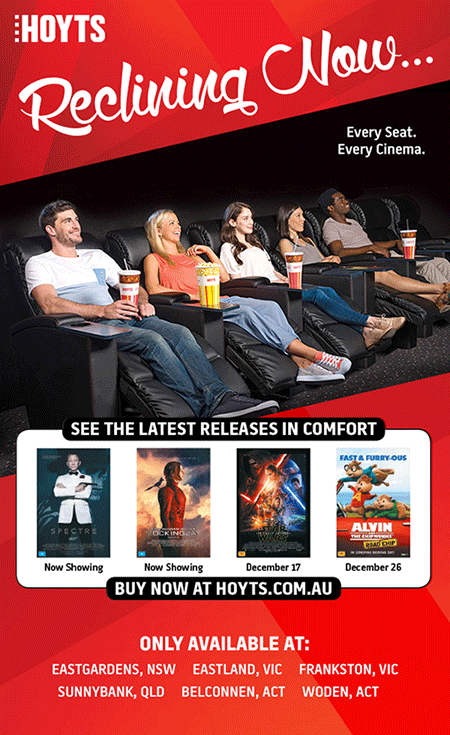 Win 1 Of 30 HOYTS Recliner Double Passes Free Online Competitions